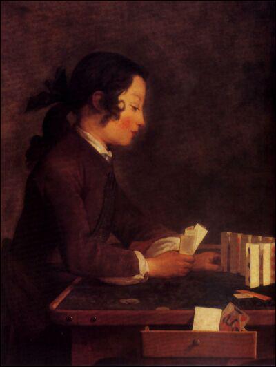 Qui a peint Jeune homme jouant aux cartes ?