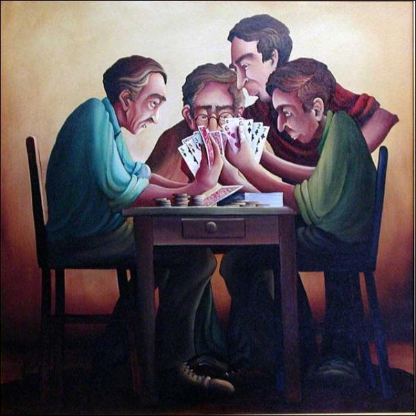 Qui a peint Poker ?