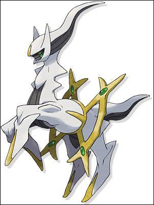 Arceus est un pokémon légendaire :