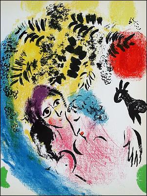 Qui a peint Les amoureux au soleil rouge ?