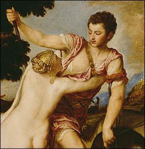 Selon la légende, c'est à ce malheureux amant de Vénus qu'on doit les roses : elles seraient nées de son sang.