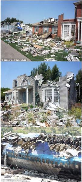 Laquelle de ces catastrophes n'a jamais frappé Wisteria Lane ?