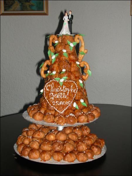 Quel est ce gâteau qui représente le mariage ?