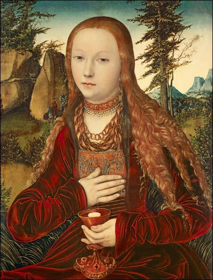 Qui a peint Sainte Barbara dans un paysage boisé ?