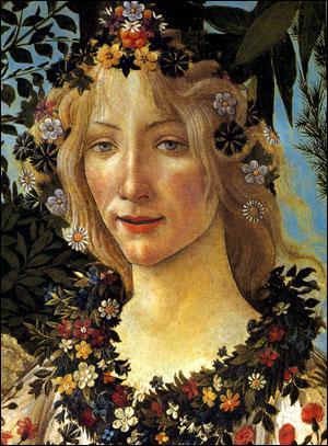 Qui a peint cette jeune femme, détail d'un tableau mythologique ?
