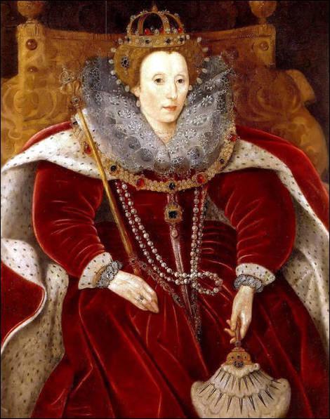 Quelle reine, héritière d'Henry VIII Tudor, est peinte ici dans sa tenue d'apparat ?