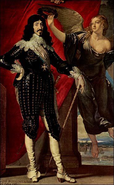 Quel roi, surnommé le Juste, est couronné ici par une allégorie de la Victoire ?