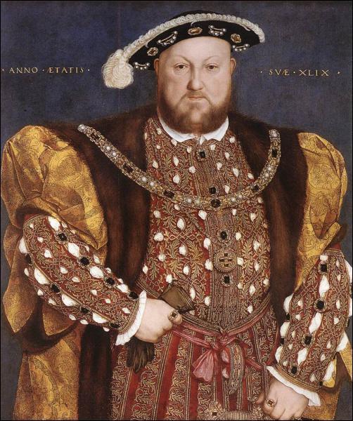 Quel roi, célèbre pour ses nombreuses épouses, est peint ici par Hans Holbein ?