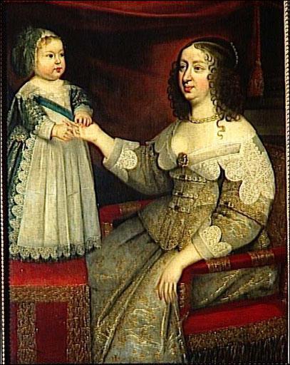 Quelle reine, mère du roi Soleil, est peinte ici avec son fils ?