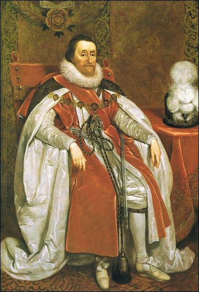 Quel roi, amoureux du duc de Buckingham, est peint ici par Daniel Mytens ?