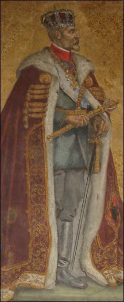 Quel roi de Roumanie, de la dynastie des Hohenzollern et décédé en 1927, est représenté ici ?