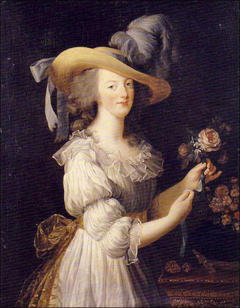 Quelle reine, exécutée à 38 ans, est représentée ici par Elisabeth Vigié Lebrun ?