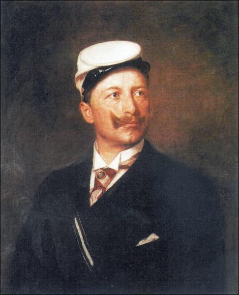 Quel souverain, acteur essentiel de la 1ère guerre, est vêtu ici aux couleurs du corps aristocratique de Borussia ?
