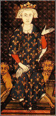 Quel roi, petit-fils de Saint-Louis et destructeur des Templiers en 1307, est peint sur cette miniature ?