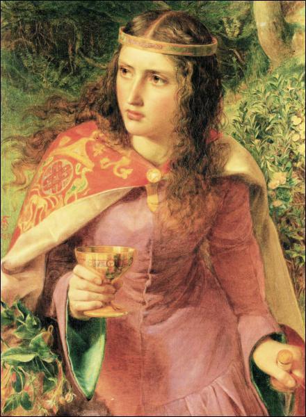 Qui est cette reine, de France puis d'Angleterre, peinte par le préraphaélite Frederick Sandys ?