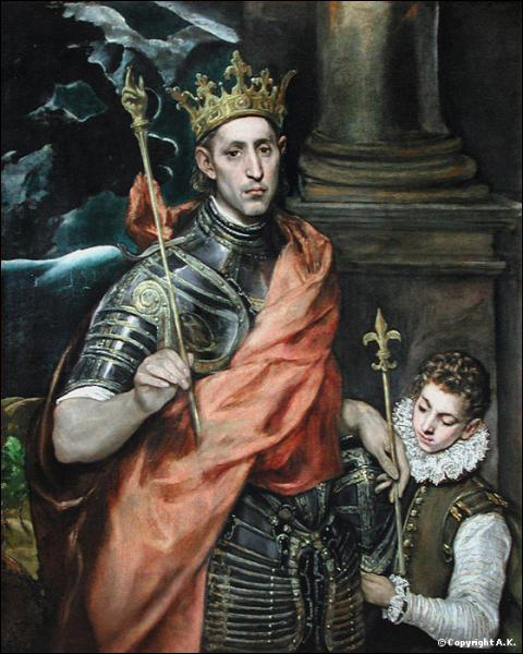 Quel roi, pieux mais hostile au judaïsme, est représenté ici par Le Greco ?