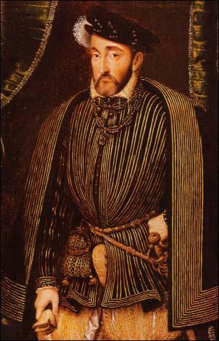 Quel roi, mort d'une blessure accidentelle à l'oeil, est représenté ici par François Clouet ?