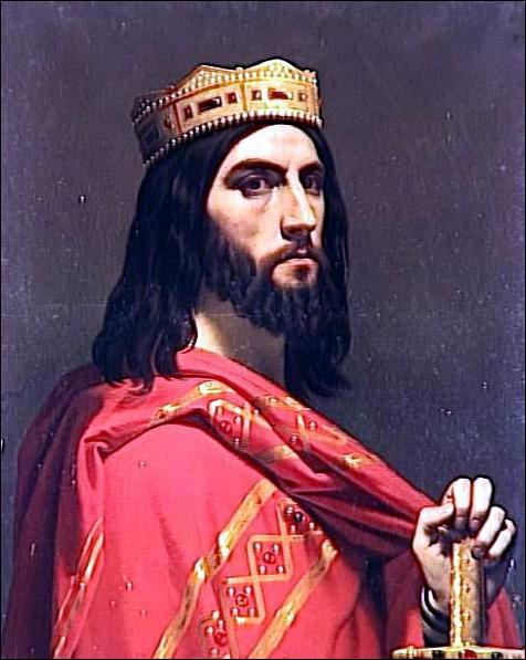 Quel roi mérovingien, discrédité par la culture populaire, est peint ici par Emile Signol ?
