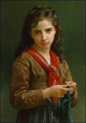 Qui a peint 'Jeune fille tricotant' ?