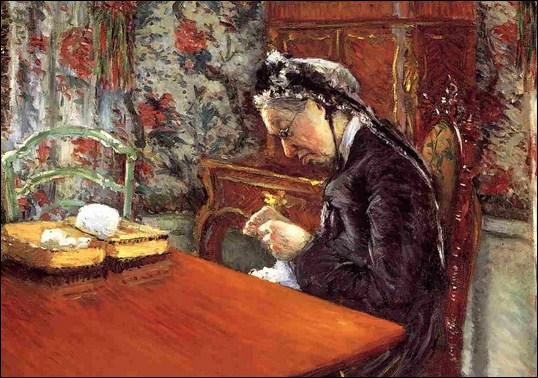 Qui a peint 'Mme Boissière tricotant' ?