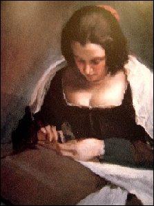 Qui a peint 'La couseuse' ?