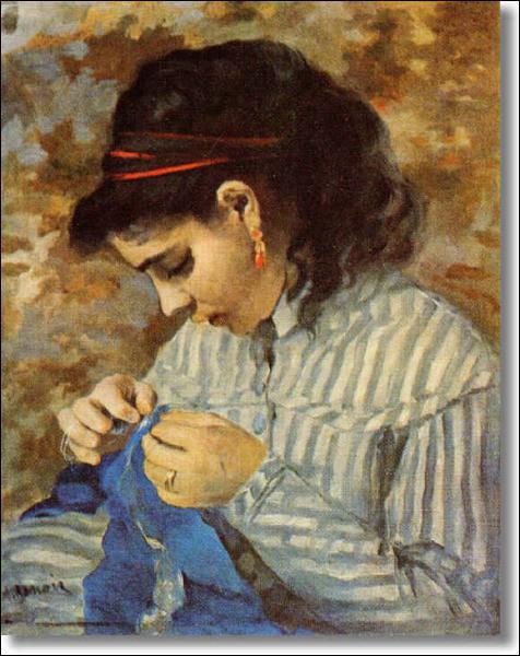 Qui a peint 'Lise cousant' ?