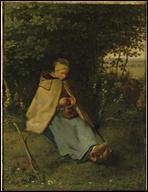 Qui a peint 'La tricoteuse' ?