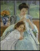 Qui a peint 'Jeune mère cousant' ?