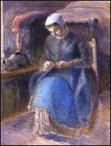 Qui a peint 'Femme en train de coudre' ?