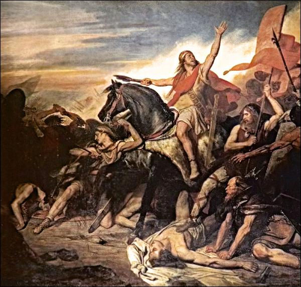 Quel peuple Clovis combat-il à la bataille de Tolbiac (près de Cologne) pour s'étendre vers l'Est ?
