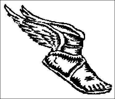 À qui sont ces sandales volantes ?