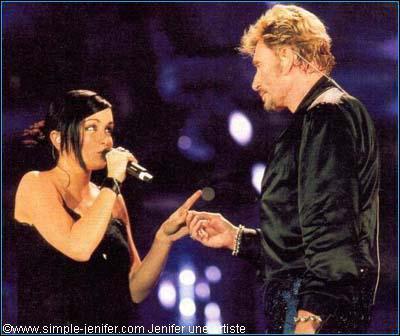 Quelle chanson chanta-t-elle avec Johnny en 2003 ?