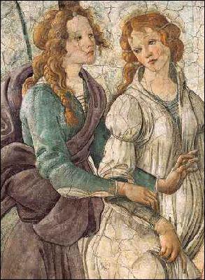 Qui a peint Vénus et les trois Grâces sur une fresque (détail) ?