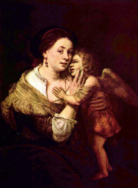 Qui a peint Vénus et Cupidon vêtus selon la mode de sa propre époque ?