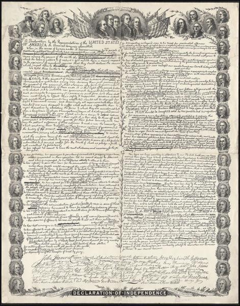 Quand est proclamée l'indépendance des États Unis ?