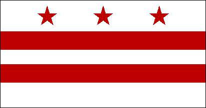 Il y a aux États-Unis un district fédéral, comment se nomme-t-il ? ( L'image est le drapeau de ce district ).