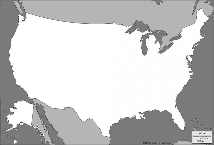 Quelle est approximativement la superficie des États Unis ?