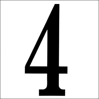 Quatre, 4...