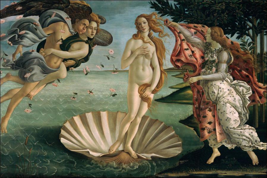 Où se trouve 'La naissance de Vénus' de Botticelli ?