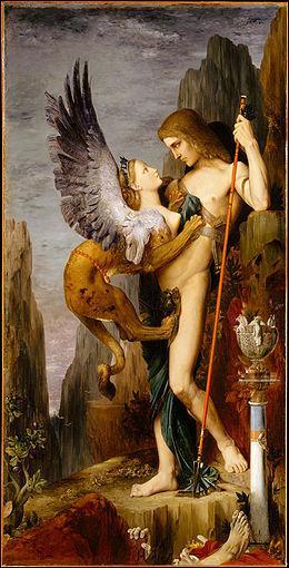 Où se trouve 'Oedipe et le sphinx' de Gustave Moreau ?
