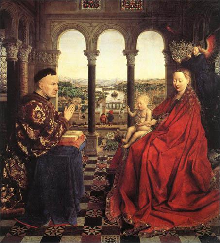 Où se trouve 'La Vierge au chancelier Rollin' de Jan Van Eyck ?
