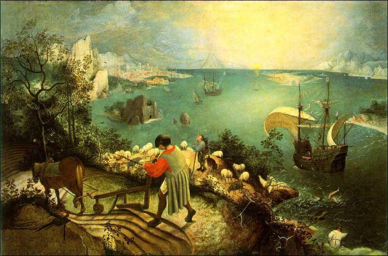 Où se trouve 'La chute d'Icare' de Pieter Bruegel ?