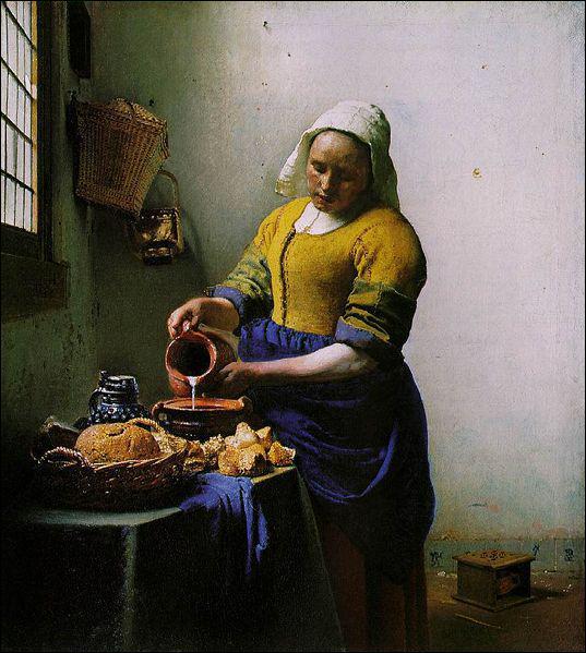 Où se trouve 'La Laitière' de Johannes Vermeer ?
