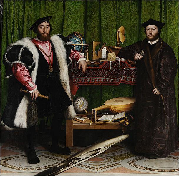 Où se trouvent 'Les Ambassadeurs' de Hans Holbein ?