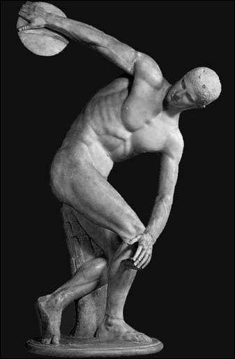 Où se trouve cette copie romaine en marbre du ' Discobole' de Myron ?