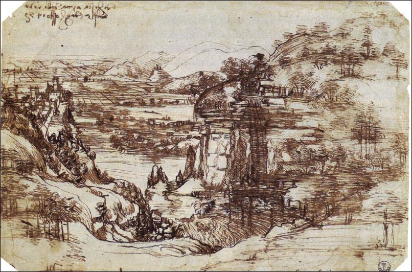 Comment Léonard commence-t-il a manifester ses talents artistiques ?