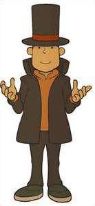 Les personnages du jeu : 'Professeur Layton'