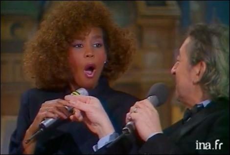 Lors d'une émission de Michel Drucker, on a vu la mâchoire de Whitney Houston se décrocher et ses yeux s'agrandir quand Gainsbarre lui a déclaré...