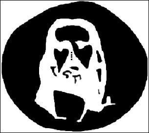 Fixez les 4 points du centre pendant 30 secondes, puis clignez des yeux sur une surface blanche. Qui voyez-vous ?