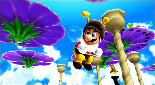 Mario peut-il monter sur une fleur sans être déguisé en abeille ?
